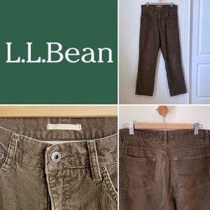 LL Bean brown straight leg cords 32x32 (men's)